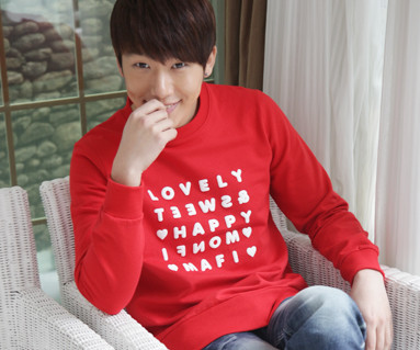 Happy Party Man to man Male long sleeve_12D03