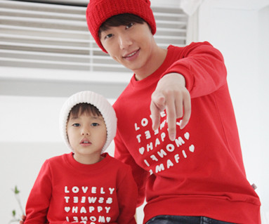 Happy Party Man to man Daddy and baby long sleeve_12D03