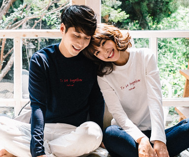 Couple long sleeve_16C12 airplane embroidery