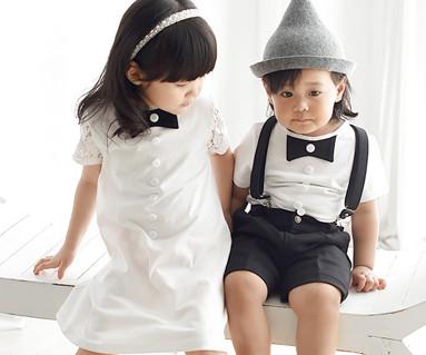 Modern romance family baby short T-shirts_16B10