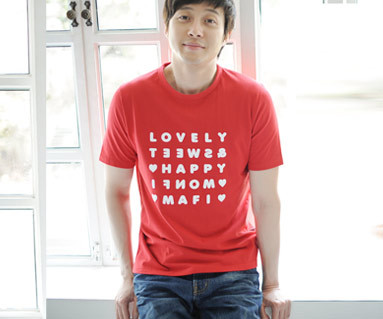 "Happy Party round male short T-shirts_13B07 <font color=""#FF6666""><strong>[Order available]</strong></font>"