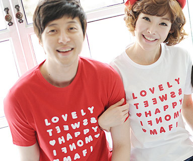 Happy Party round Couples short T-shirts_13B07