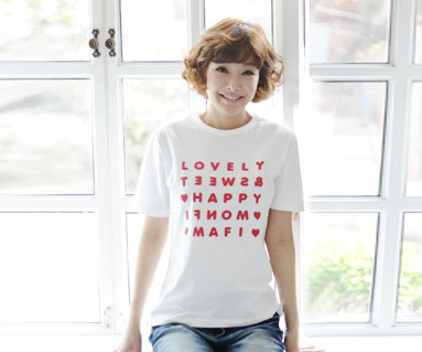 "Happy Party round women short T-shirts_13B07 <font color=""#FF6666""><strong>[Order available]</strong></font>"