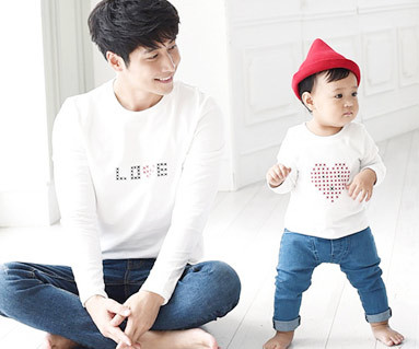 Stitch round dad and baby long sleeve_15C06