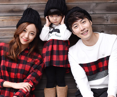 "Brushed Red check family long sleeve_15D07 <font color=""#FF6666""><strong>[order possible]</strong></font>"
