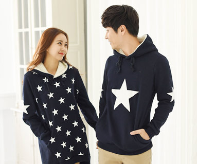 Brushed All Star Hood Couples long sleeve_14D12