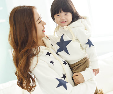 Brushed All-Star Hooded Mom and Baby long sleeve_14D12
