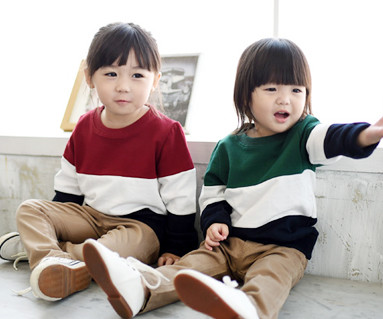 Brushed Trio Man to man baby long sleeve_14D01