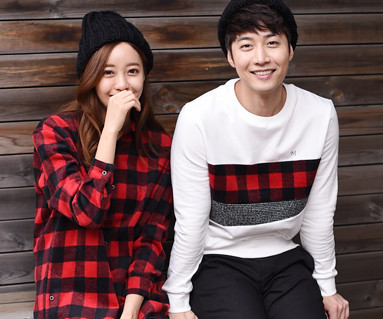 Brushed Red Check Couples long sleeve_15D07
