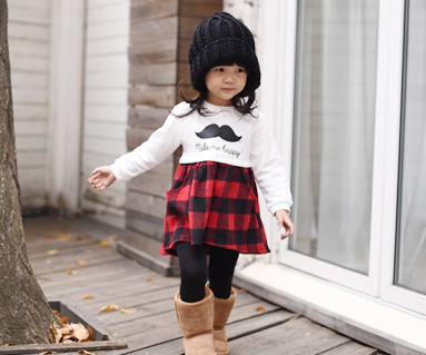 Brushed Red Check Family baby long sleeve_15D07