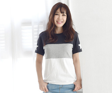 My Star round women short T-shirts_16B12