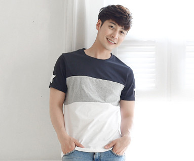 My Star round male short T-shirts_16B12