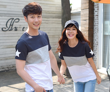 My Star round Couples short T-shirts_16B12
