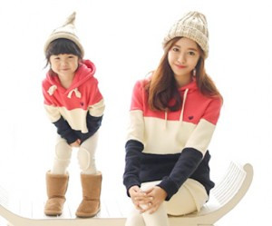 Brushed birdie birdie hoody mom and baby long sleeve_15D20