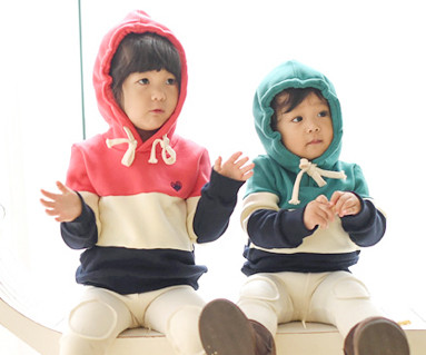 Brushed birdie birdie hoody baby long sleeve_15D20