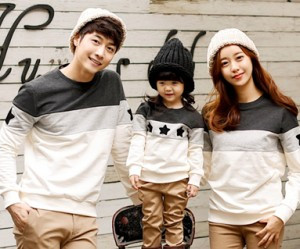 Brushed Coco Star Black Man to man family long sleeve_15D02