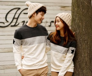 Brushed Coco Star Black Man to man Couples long sleeve_15D02