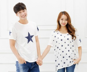 "All Star round Couples short T-shirts_14B39 <font color=""#FF6666""><strong>[Order available]</strong></font>"