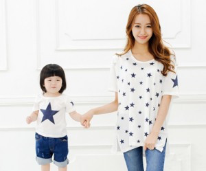 "All Star round mother and baby short T-shirts_14B39 <font color=""#FF6666""><strong>[Order available]</strong></font>"