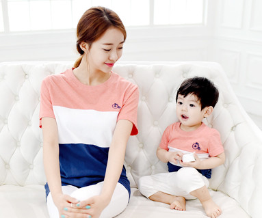 Trinity round mother and baby short T-shirts_15B04