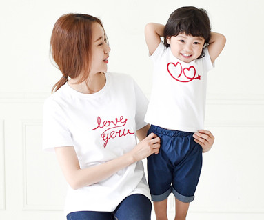 Flying round mother and baby short T-shirts_15B20