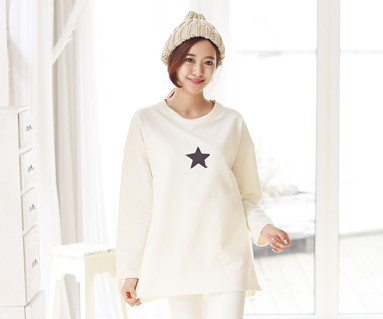 Brushed dalbyeol family long sleeve / mom / 15D10