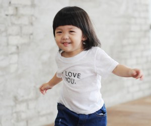 "Love baby embroidery round baby short T-shirts_14B24<font color=""#FF6666""><strong>[Order available]</strong></font>"