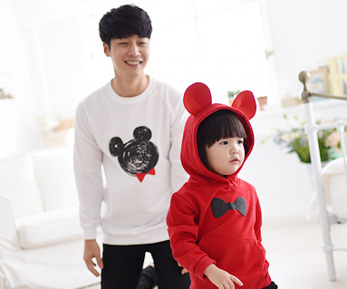 Mini Mouse Daddy and baby long sleeve_14C08