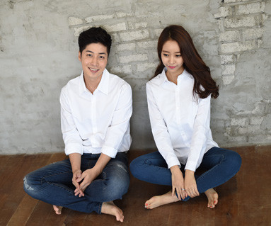 Oxford Shirt White Couples long sleeve_14C15