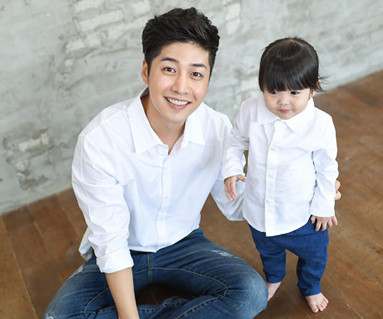 Oxford Shirt White Daddy and baby long sleeve_14C15