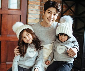 "Brushed Cotton Family Dad and Baby long sleeve_16D04 <font color=""#FF6666""><strong>[Order available]</strong></font>"
