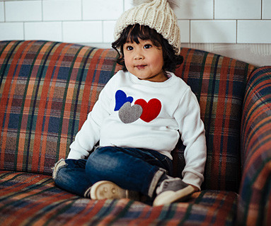 Brushed three-heart one-man baby long sleeve_16D01