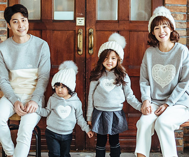 Brushed Cotton family long sleeve_16D04