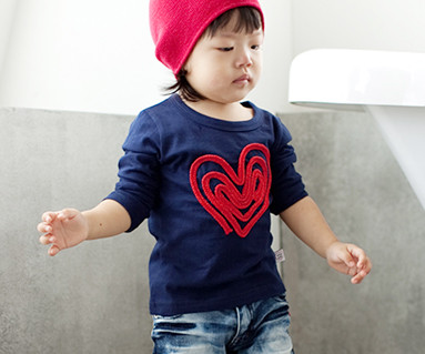 Chain embroidery round baby long sleeve_11C01