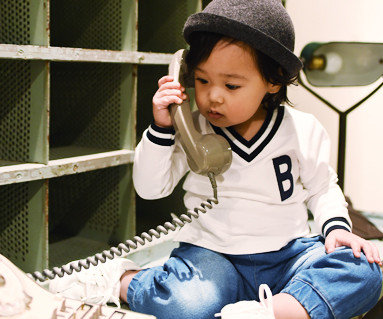School V-neck family Man to man baby long sleeve_16A04