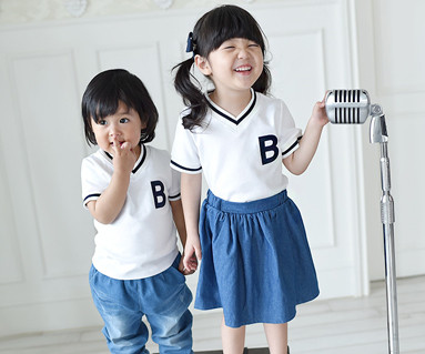 Summer School baby short T-shirts 16B11K
