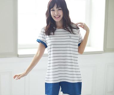 Child blue family female short T-shirts_16B05