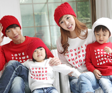 """Happy Party Man to man family long sleeve_12D03 <font color=""""#FF6666""""><strong>[order possible]</strong></font>"""