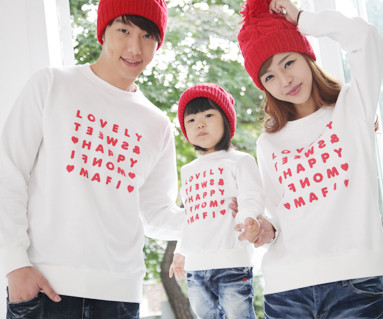 Happy Party Man to man Couples long sleeve_12D03