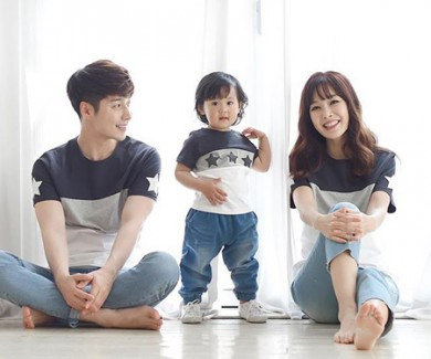 My star round family short T-shirts_16B12