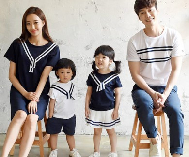 Two-way family short T-shirts_16B24