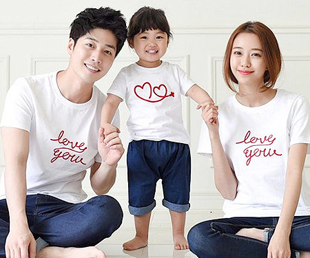 Flying round family short T-shirts_15B20