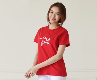 Flying round female short T-shirts_15B20