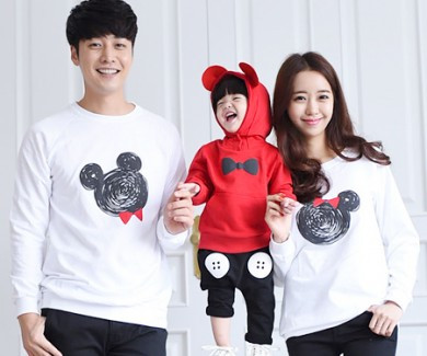 Minnie Mouse family long sleeve_14C08