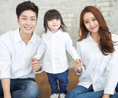 Oxford Shirt White family long sleeve_14C15