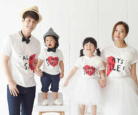 "Couple Heart family short T-shirts_16B21<font color=""#FF6666""><strong>[Order available]</strong></font>"