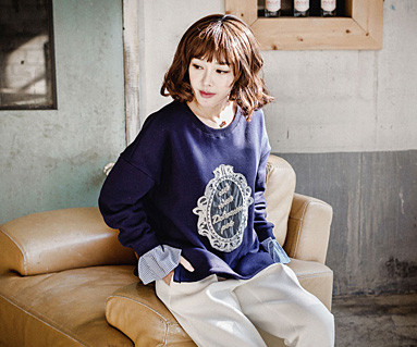 """Brushed Royal Dandy family long sleeve / mom / 16D03 <font color=""""#FF6666""""><strong>[Order available]</strong></font>"""