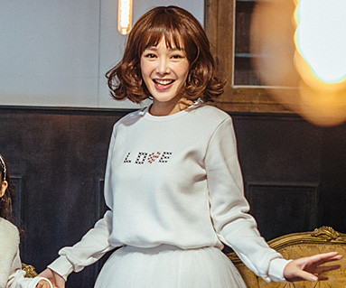 Brushed Love Stitch One on one long sleeve / mom / 16D08