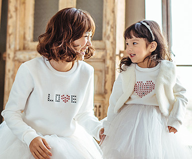 Brushed Love Stitch One-man mom and baby long sleeve_16D08