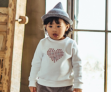 Brushed Love Stitch One-man Baby long sleeve_16D08